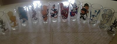 1973 Looney Toons Pepsi Collectible Warner Bros Glasses Set of 12