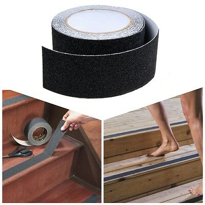 50cm x 5m High Grip Non Anti Slip Tape Self Adhesive Flooring Stair Safety Black