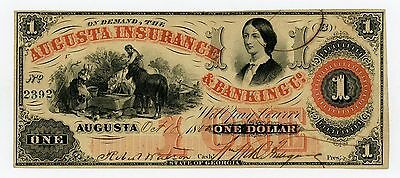 1860 $1 The Augusta Insurance & Banking Co. - GEORGIA Note