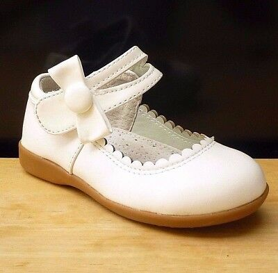 Girl White Dress Mary Jane Shoes Flats Baby & Toddler Size 4,5,6,7,8