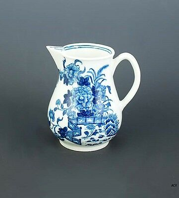 Lovely Antique 18th Century Worcester English Blue and White Creamer Pitcher