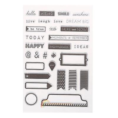 Transparent Clear Stamp DIY Silicone Seals Scrapbooking Card 35