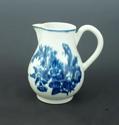 Wonderful Antique 18th Century Worcester English Blue and White Creamer Pitcher