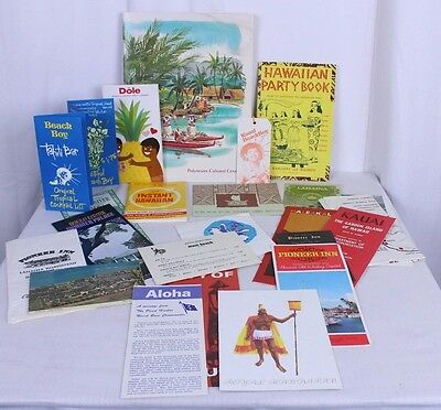 Lot of Hawaiian Booklets 1970s Tiki Tahiti Bar Speak Hawaiian Party Book Ephemra
