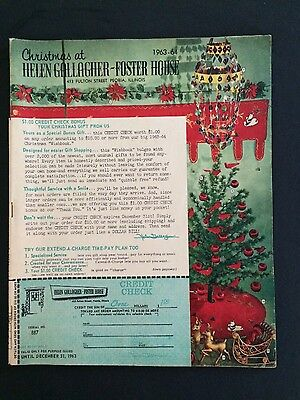 Vintage lot of 2 Helen Gallagher Foster House Christmas catalogs 1963 64 gifts