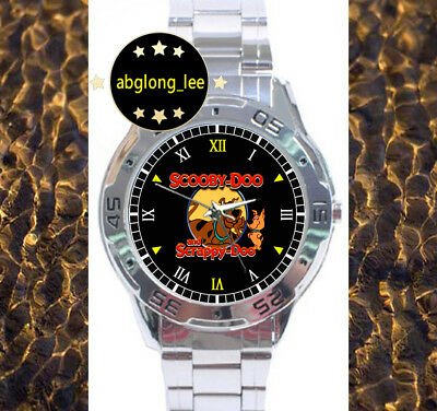 NEW Scooby Doo and Scrappy Doo CUSTOM CHROME MEN'S WATCH WRISTWATCHES WATCHES