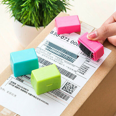 Portable Messy Code SelfInking Stamp Security Office Guard Your ID Roller Stamp