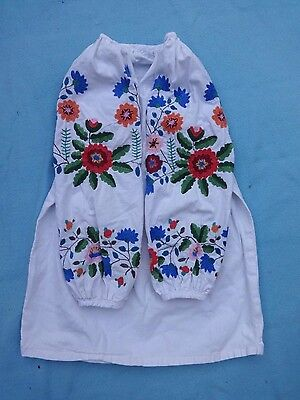 Vintage Baby Girl Vyshyvanka Ukrainian Dress Hand Embroidered 3 4 5 6 7 Years