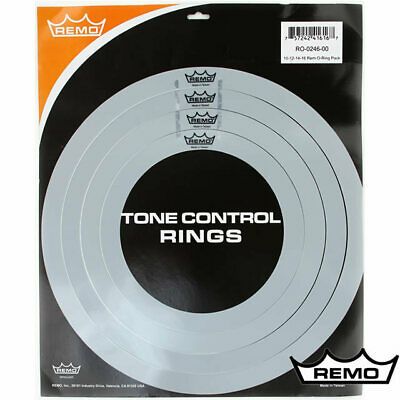 Remo Rock Size RemO's Tone Control O Ring pack 10 12 14 16 Drum Dampening