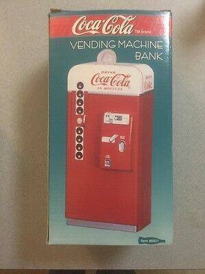 Coca Cola Die Cast Metal Collectible Decorative Bank Vending Machine Coke New