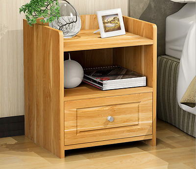 Bedside Table Cabinet Lamp Side Nightstand Unit Storage One Drawer 4 Colours