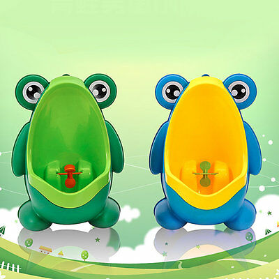 Frog Boy Kids Baby Toilet Training Children Potty Pee Urine Home Bathroom BG