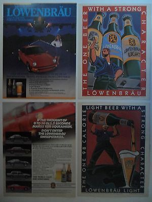 Nice Lot #1 of 10 Different Lowenbrau Beer Magazine Print Ads