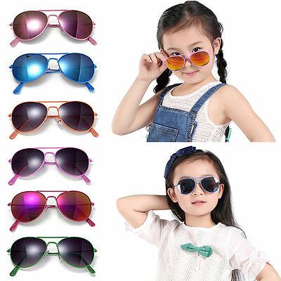 b0277ff3d40 Kids Boys Girls Goggles Glasses Anti-UV Sunglasses Fashion Eyewear Chic  Colored
