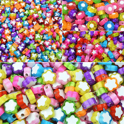 100 Pcs/Pack Hot Plum Flower Jewelry DIY Beads Spacer Loose Beads