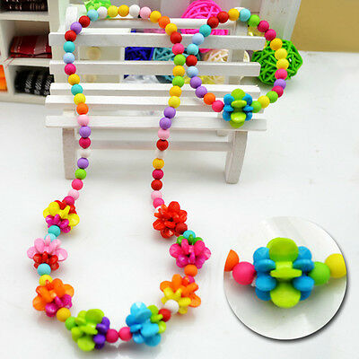 New Necklace&Bracelet Set Girls Color Ball Fashion Baby Jewelry Kids Children