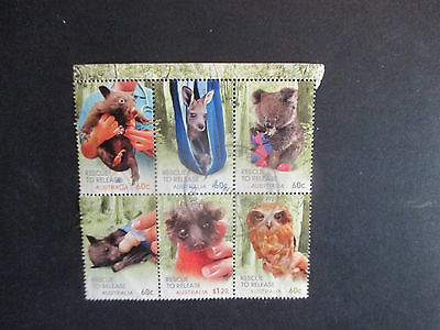 1--2010 -Wildlife  Rescue  To   Realease  --F/set  Block  Of  6  Stamps --Used