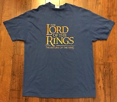 Vintage Lord Of The rings Return Of The King Movie Promo T Shirt Sz XL Fantasy