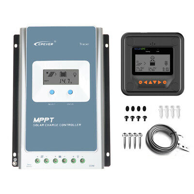 EPEVER MPPT Solar Charge Controller 40A 30A 20A Battery Charger + Meter MT50