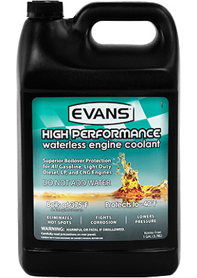Evans Waterless High Performance Coolant, Case of 4 X 1 Gallon Jug - #281-50004