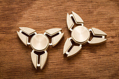UK Stock Tri Fidget Hand Spinner Triangle EDC ADHD Autism Brass Finger Toy Gift