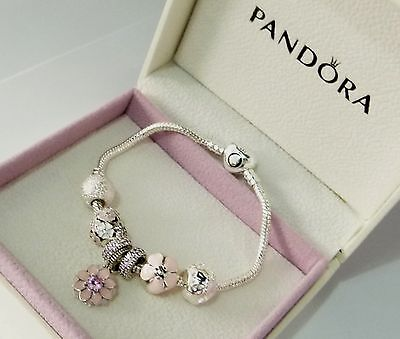 Authentic Pandora Bracelet, Authentic Blooms Beads & Charms, BEAUTIFUL GIFT