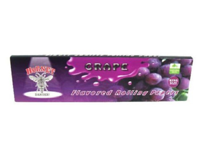 Hornet Flavoured Rolling Papers King Size 32 Leaves Grape cigarette smoking