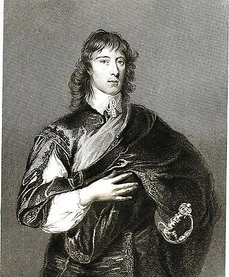 William Howard, 1st Viscount Stafford - Royalist - Engraved after Van Dyck c1825