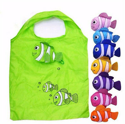 Hot New 7 Colors Tropical Fish Foldable Eco Reusable Shopping Bags 38cm x58cm