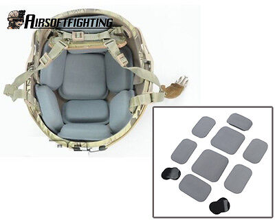 Military Tactical Airsoft Hunting Protective Pad for CP Style Helmet Grey