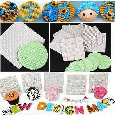 Texture Silicone Mat Fondant Cake Decorating Mold Embossing Knitted Texture Mat