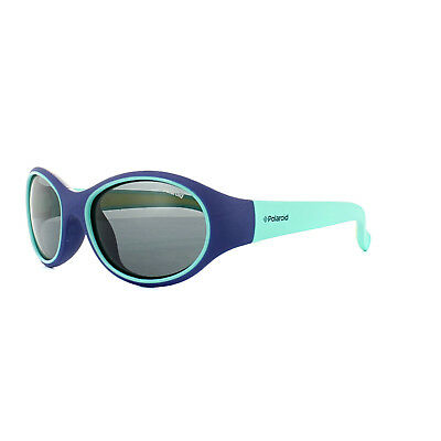 Polaroid Kids Sunglasses 8002/S T48 Y2 Blue Light Green Yellow Grey Polarized