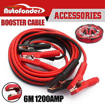 1200AMP Jumper Leads Protected Jump 6M Car Booster Cables Heavy Duty New Brand