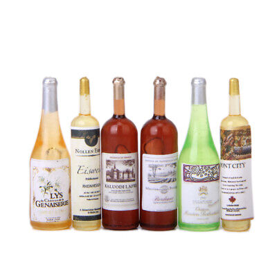 1:12 Miniature Wine Bottles Assortment Decoration Doll House Accessory Toy