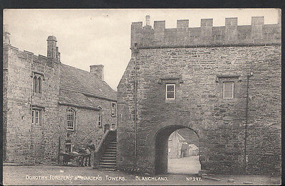 Northumberland Postcard - Dorothy Forster's & Warder's Towers, Blanchland B130