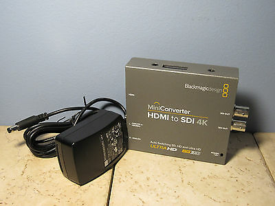 Blackmagic Design Miniconverter - HDMI to SDI 4K - with power cable!!