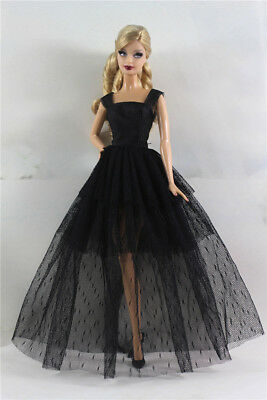 Black Fashion Royalty Princess Dress/Clothes/Gown For Barbie Doll S523U