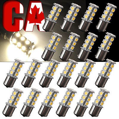 20 X Warm White 1156 18 LED bulbs BA15S 1141 Turn Signal Backup Reverse Light