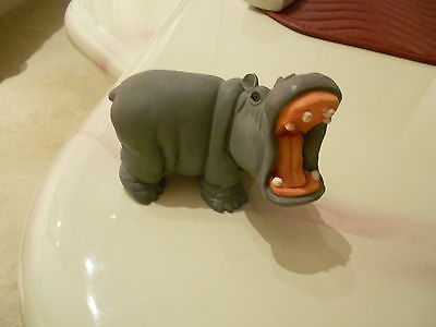 "hippo wide mouth figurine-vg condition-3 1/2"" x 2 1/2"" x 2 3/4"""
