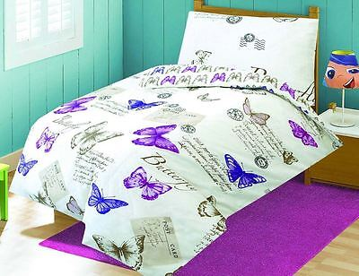 Love2Sleep BABY COT BED BUTTERFLY DUVET COVER SET 120 X 150 CM - MARIPOSA