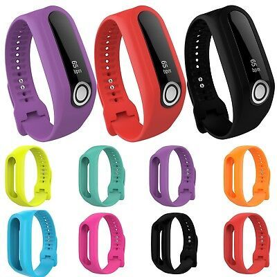 Silicone Rubber Band Strap Armband Wristband Bracelet For TomTom Touch/Cardio