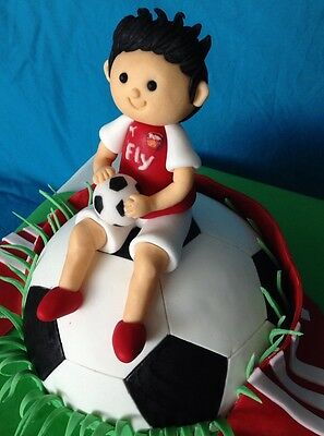 3D Edible Soccer Player Cake Topper / Decoration