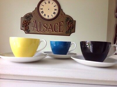 50s ADDERLEY TEA SET~RETRO 'FIESTA' DESIGN~IMMACULATE CUP & SAUCER