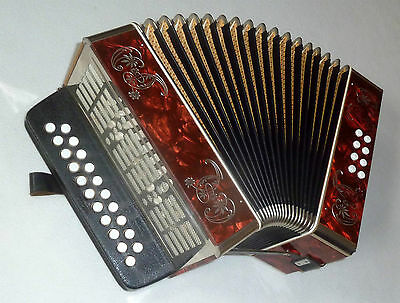 """""""Weltmeister"""" Button Accordion/Melodeon, like """"Hohner Erica"""" in key: C-F !!"""