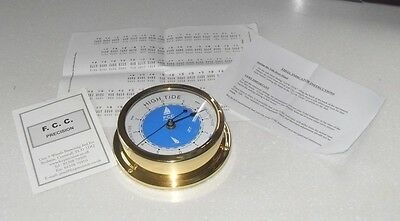 Fcc Brass Gilt Ships Port Hole Tide Wall Clock Marine Nautical New In Box
