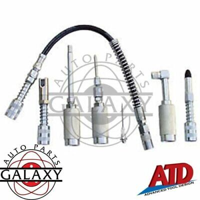 7 Piece Ezee-Lube Grease Accessory Kit Converts Grease Gun with Jaw Coupler