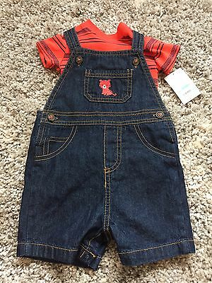 Carters Baby Boy Outfit Size 6 Months. Overalls And T Shirt. Nwt