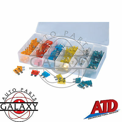 Brand New ATD 120 Piece Automotive Fuse Assortment 5-30 Amp 20ea W/ Case