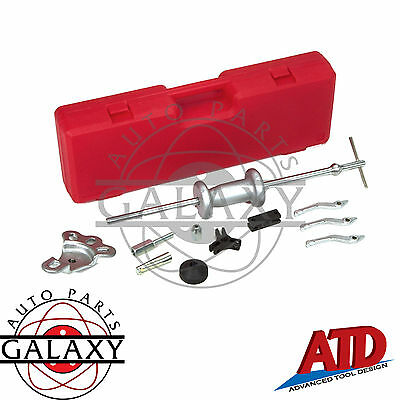 "ATD Slide Hammer Puller Set 3 Int & Ext. Jaws 1-1/4 - 3-1/8"" Dent & Puller Hook"