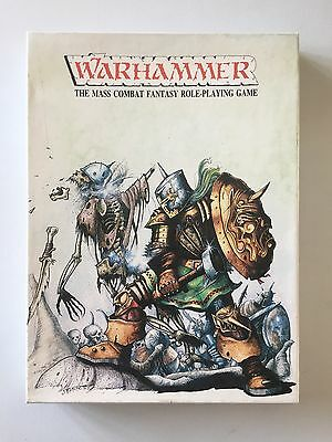 Games Workshop Warhammer Mass Combat Fantasy Role-Playing Game Boxed Set 1982